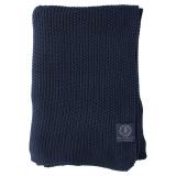Moss Knit Stickad Pläd Marin
