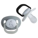 Mumin Napp Ortodontisk Vit/Grå 2-Pack