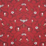 Nisse Textilvaxduk Röd
