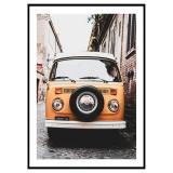 Old Orange Car Poster