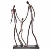 Pose Staty Tillsammans Brons/Svart