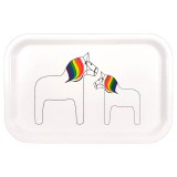 Pride Horse Bricka Vit