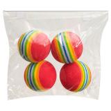 Regnbåge Skumgummiboll Kattleksak Multi 4-Pack