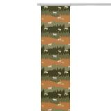 Renland Panelgardin Orange/Grön