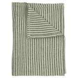 Rough Linen Stripe Duk Grön