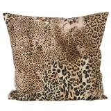 Safari Leopard Kuddfodral Brun Stor