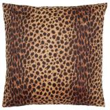 Safari Stor Leopard Kuddfodral Brun