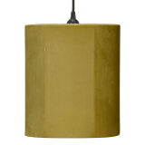 Sammet Cylinder Lampskärm Senap
