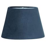 Sammet Oval Lampskärm Blå
