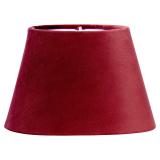 Sammet Oval Lampskärm Klar Röd