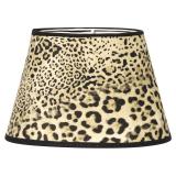 Sammet Oval Lampskärm Leopard