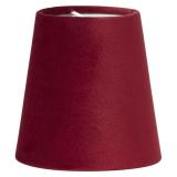 Sammet Queen Lampskärm Klar Röd