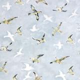 Seagulls Tyg Blå