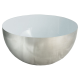 Semi Skål Vit/Silver
