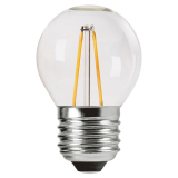PR Home Shine LED-lampa Clear Klot E27