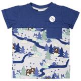Skogsdjur T-shirt Bambu Grå/Blå