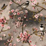 Småfåglar Vaxduk Beige