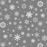 Snöflingor Vaxduk Grå