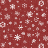 Snöflingor Vaxduk Röd