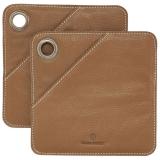 Square Grytlapp Brun 2-pack