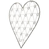 Stanley Hjärta Ram Med Krokar Mässing