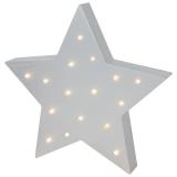 Stjärna LED-lampa Grå