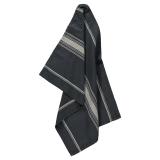 Stripe Linen Blend Kökshandduk Ombre Blå