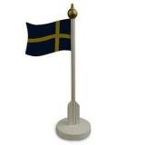 Svenska Flaggan Dekoration Blå/Gul