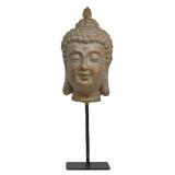 Tam Buddha Huvud Statyett Guld
