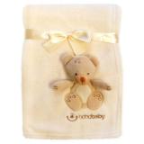 Teddybjörn Fleecefilt Offwhite