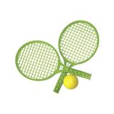Tennisracket med Boll Grön