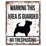 Sovtex Terrier Skylt Vit Stor