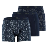 Topeco Topeco Boxerkalsong Marin/Grön 3-pack