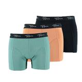 Topeco Boxerkalsong Orange/Grön 3-pack