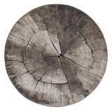 Träd Rund Matta Grå