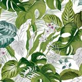 Tropiska Blad Vaxduk Grön