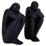 Twins Pixel Statyetter Svart