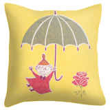 Umbrella Kuddfodral Mumin Gul