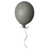 Väggdekoration Ballong Mörkgrön Liten