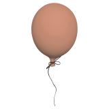 Väggdekoration Ballong Rosa Stor