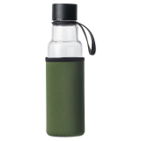 Vattenflaska Med Fodral Glas Grön