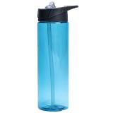 Vattenflaska Med Sugrör Ljusblå