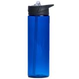 Vattenflaska Med Sugrör Marinblå