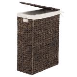 Vattenhyacinth Tvättkorg Rektangel Brun