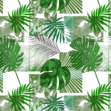 Vaxduk Tropiska Blad Grön