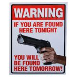 Warning Skylt If You Are Found