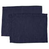 Washed Linen Bordstabletter Blå 2-Pack