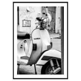 White Vespa Poster