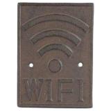 Wi-Fi Skylt Svart/Brun