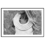 Woman with Necklace Poster